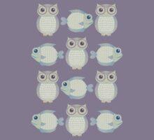 Owls & Fish Kids Tee