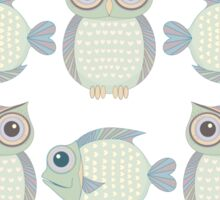Owls & Fish Sticker