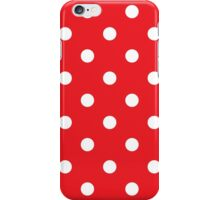 Polka dot fabric. Retro vector background iPhone Case/Skin