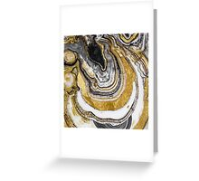 Stone Prose Gold Geode Greeting Card