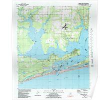USGS TOPO Map Alabama AL Orange Beach 304756 1980 24000 Poster