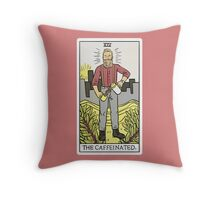 Modern Tarot - The Caffeinated Throw Pillow