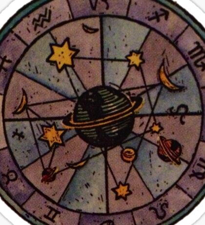 Purple Astrology Sticker