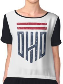 Ohio Shield Chiffon Top