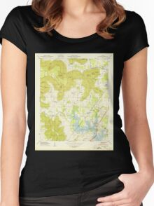 USGS TOPO Map Alabama AL Wannville 305321 1950 24000 Women's Fitted Scoop T-Shirt