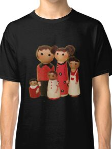 Red Peg Doll Family  Classic T-Shirt