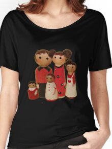 Red Peg Doll Family  Women's Relaxed Fit T-Shirt