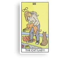 Modern Tarot - The Cat Lady Metal Print
