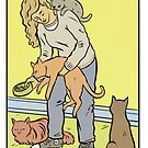 Modern Tarot - The Cat Lady by Alice Carroll