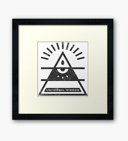 Universal Wisdom - Typography and Geometry Framed Print