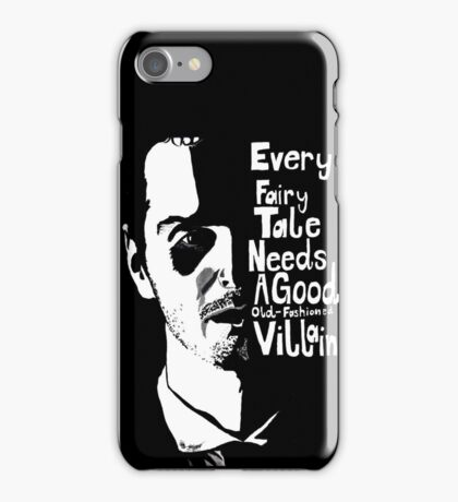 Good old fashioned villian iPhone Case/Skin