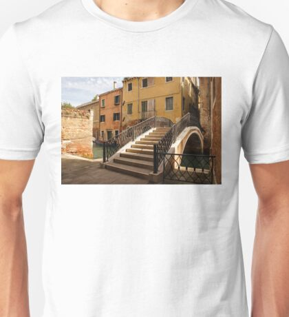 Venice, Italy - Intricate Wrought Iron Bridge Unisex T-Shirt