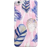 Feathers and Spotted Eggs woodland nature pattern iPhone Case/Skin