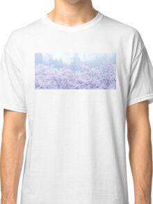 Foggy Blossom Tree Landscape Classic T-Shirt