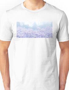 Foggy Blossom Tree Landscape Unisex T-Shirt