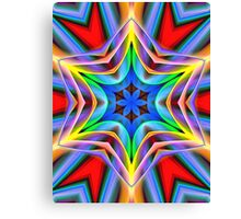 Abstract kaleidoscope star Canvas Print