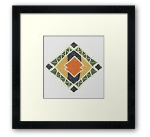Cool Abstract Enchanting Colors and Shapes Framed Print
