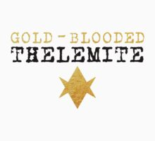 Gold-Blooded Thelemite (light background) Kids Tee