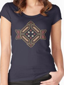Cool Abstract Enchanting Shapes and Colors Women's Fitted Scoop T-Shirt