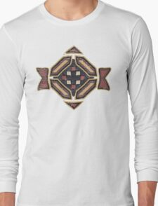 Cool Abstract Enchanting Shapes and Colors Long Sleeve T-Shirt