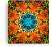 Abstract kaleidoscope fractal snowflake Canvas Print