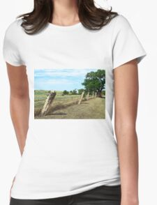 Kansas Post Rock Fence Womens Fitted T-Shirt