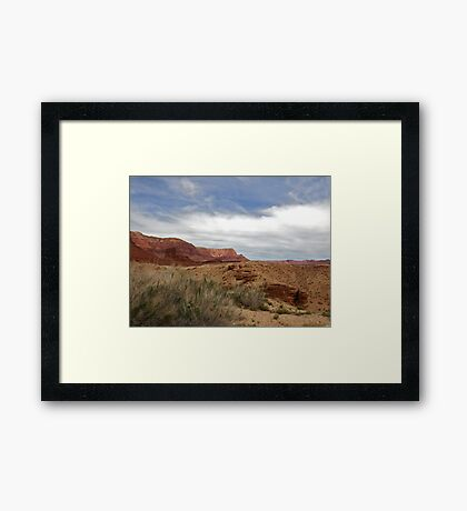 Red Rocks Desert Framed Print