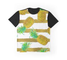 Pineapple fruit and stripes. Graphic T-Shirt