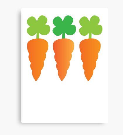 Three carrots orange vegetables Canvas Print
