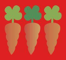 Three carrots orange vegetables One Piece - Long Sleeve