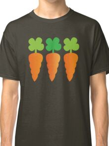 Three carrots orange vegetables Classic T-Shirt