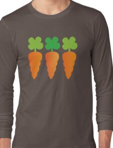 Three carrots orange vegetables Long Sleeve T-Shirt