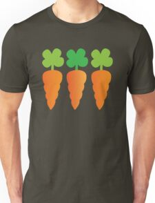 Three carrots orange vegetables Unisex T-Shirt