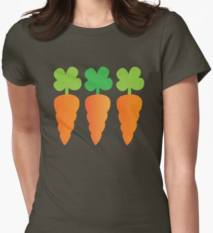 Three carrots orange vegetables Womens Fitted T-Shirt