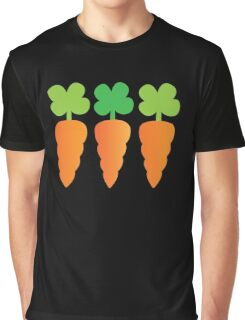 Three carrots orange vegetables Graphic T-Shirt