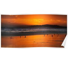 13th Beach after Sunset Poster