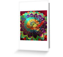 I'd rather be a hummingbird caged in your psychedelic heart Greeting Card