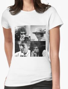 bob dylan - forever young Womens Fitted T-Shirt