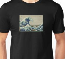 Great Wave T-Shirt - Hokusai Duvet Surfing Kanagawa Mount Fuji Sticker Unisex T-Shirt