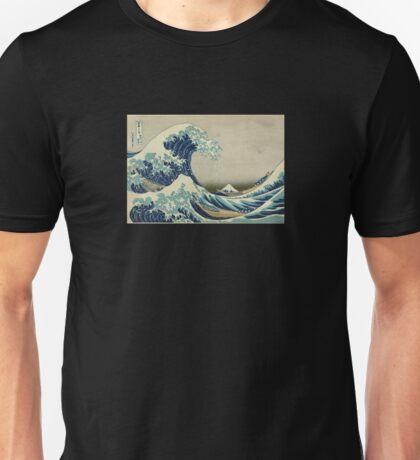 Great Wave T-Shirt - Hokusai Duvet Surfing Kanagawa Mount Fuji Sticker Unisex T-Shirt