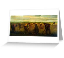 'Farmers' by Vincent Van Gogh (Reproduction) Greeting Card