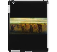 'Farmers' by Vincent Van Gogh (Reproduction) iPad Case/Skin