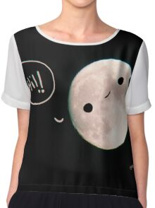 look to the moon Chiffon Top