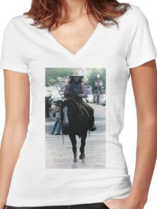 Cattle Drive 18 Women's Fitted V-Neck T-Shirt