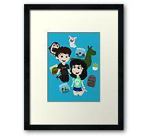 Dil and Tabitha Framed Print