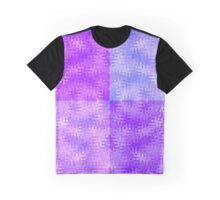 Purple Ripples Organic Flow Patchwork Design Graphic T-Shirt