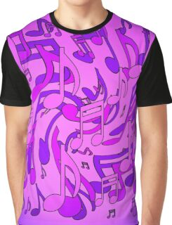 Ultra Violet Purple Pink Passion Music Notes Graphic T-Shirt
