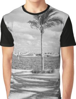 Yachts in a Row Graphic T-Shirt