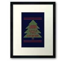 Christmas Vacation Ugly Sweater Framed Print