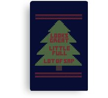 Christmas Vacation Ugly Sweater Canvas Print